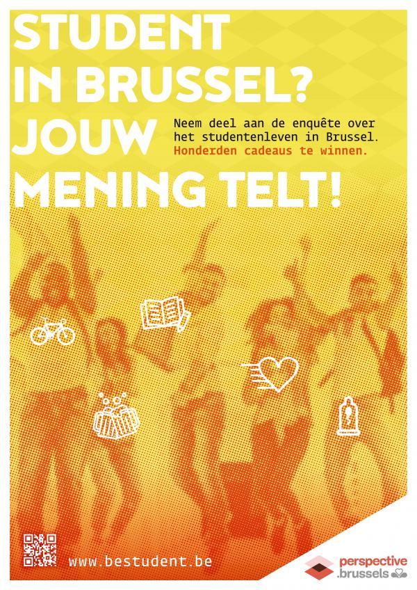 Affiche van de enquête Studentenleven