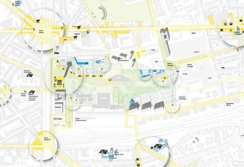het openstellen van de site en het verankeren van het project in de bestaande Reyers-wijk