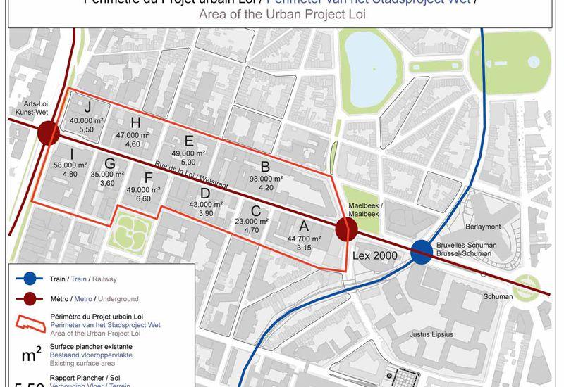 Oppervlakte van het Urban-project