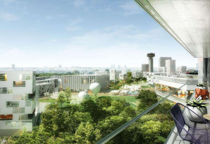 impressie wonen aan het park (ontwerpwedstrijd masterplan 2015)