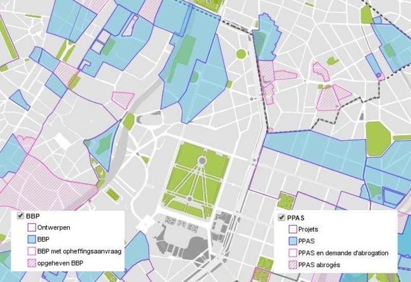 Extract Kaart van BBP - BruGIS