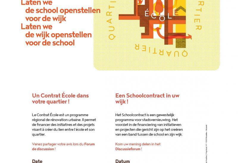 Invitation moment participatif Contrat Ecole «École n°1» à Schaerbeek